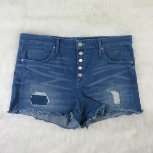 Mossimo Distressed High Rise Stretch Shorts
